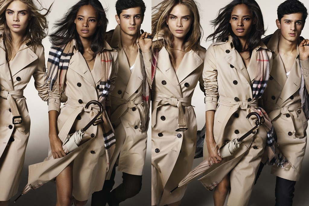 An ad visual from Burberry's fall 2014 campaign.