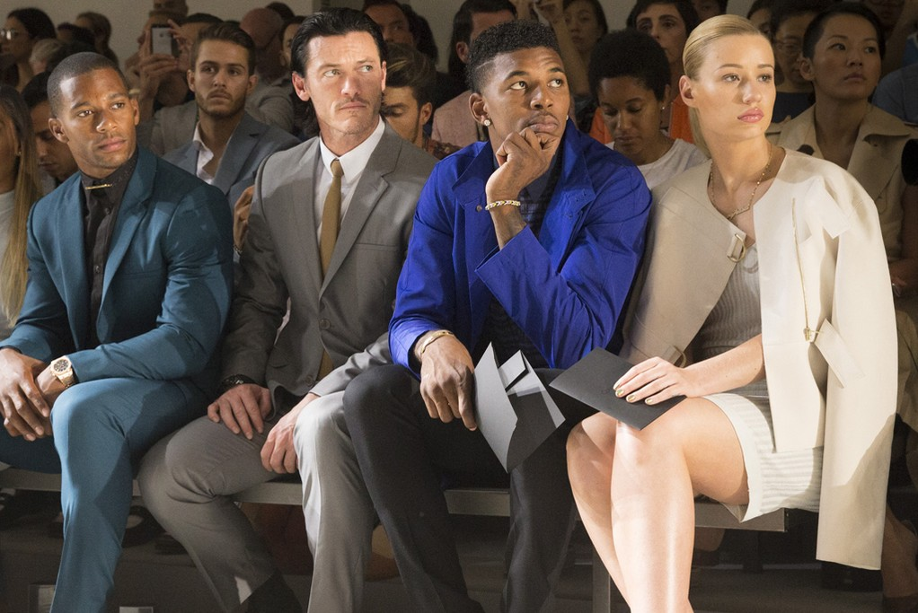 Victor Cruz, Luke Evans, Nick Young and Izzy Azalea at the Calvin Klein show
