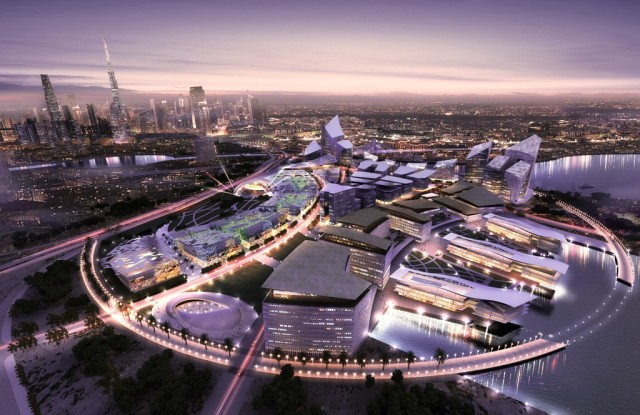 A digital rendering of Dubai Design District, or D3.