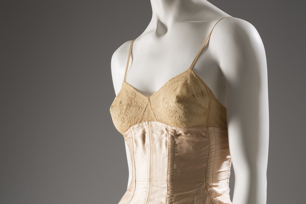 """The """"Exposed"""" exhibit at FIT features lingerie from the 18th century through present day."""