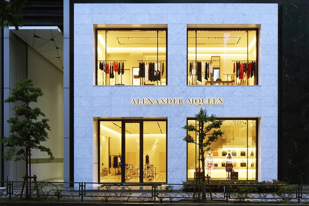 Alexander McQueen's flagship store in Aoyama, Tokyo