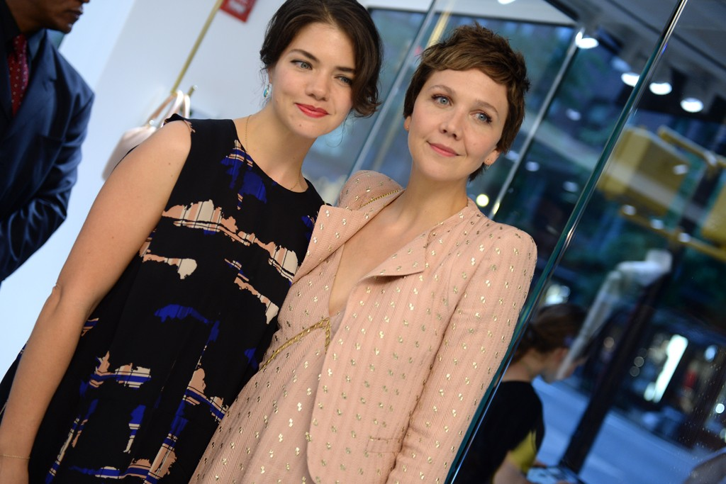 Olivia Sammons with Maggie Gyllenhaal in Chloé.