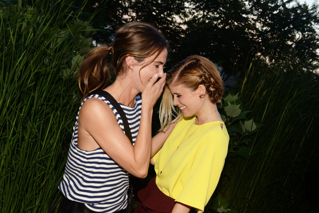 Keri Russell with Kate Mara in Sandro.