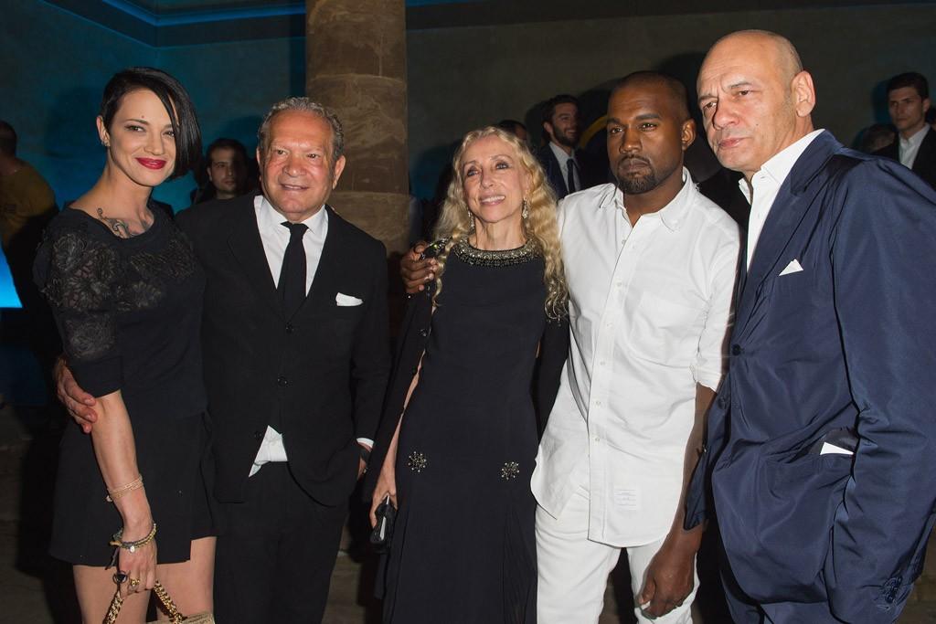 Asia Argento, Ermanno Scervino, Franca Sozzani, Kanye West and Toni Scervino.