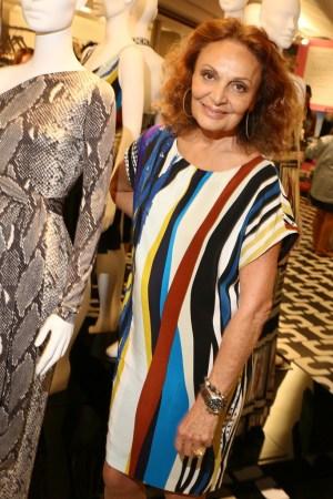 Diane von Furstenberg at Bergdorf Goodman.