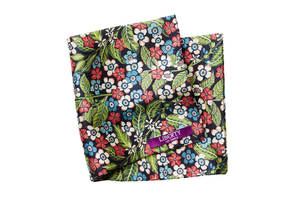 A pocket handkerchief from the Liberty collaboration with H&M.