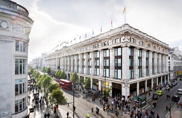 Selfridges flagship store on Oxford Street.