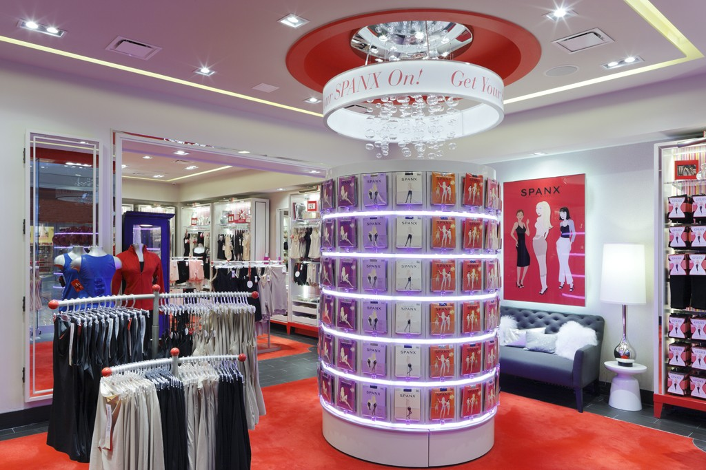Spanx products on display.