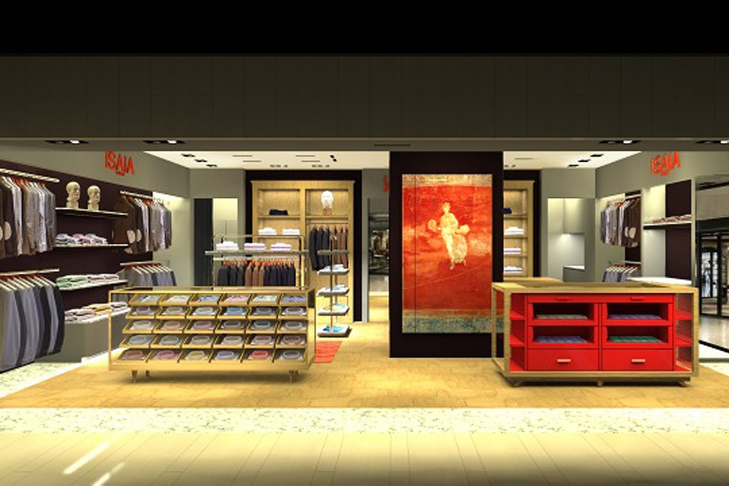 A rendering of an Isaia store in Greater China.