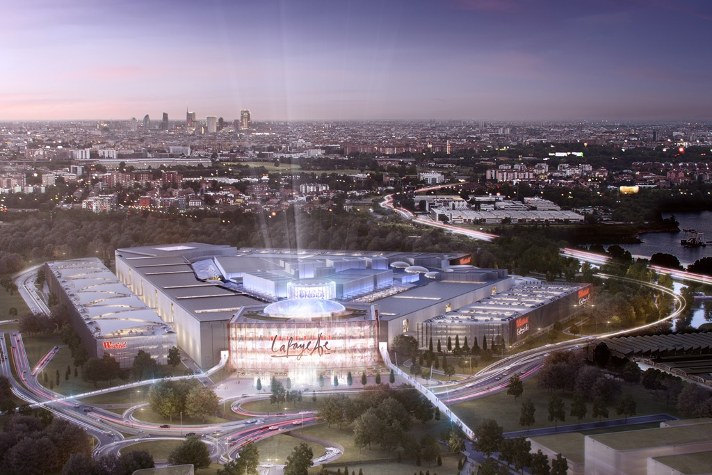 A view of the Galeries Lafayette flagship store to open in Westfield Milan, a future mall billed as Italy's largest.
