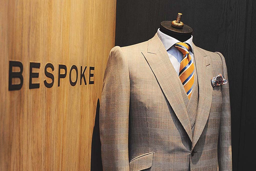 The Gieves & Hawkes bespoke room.