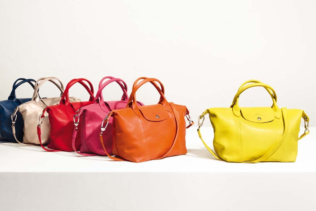 Le Pliage Cuir looks from Longchamp.