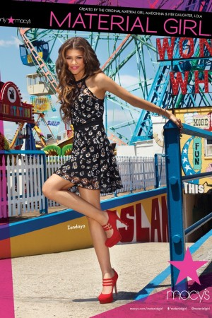 Zendaya in a Material Girl ad shot by Jeremy Williams.