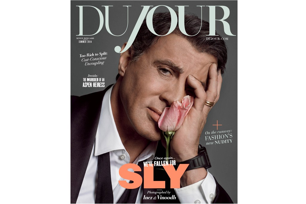 DuJour's Summer 2014 Issue Featuring Sylvester Stallone.