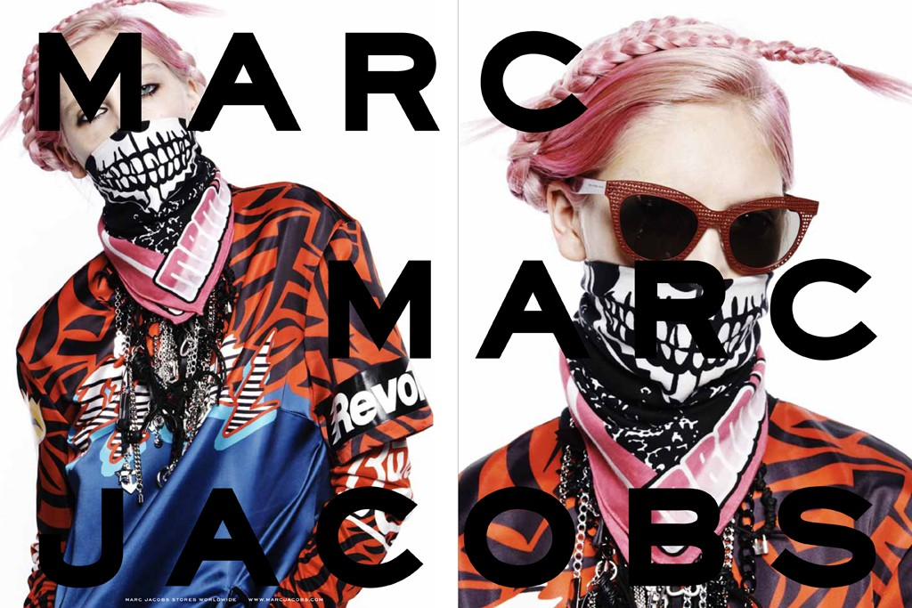 An ad from Marc by Marc Jacobs' fall 2014 campaign.