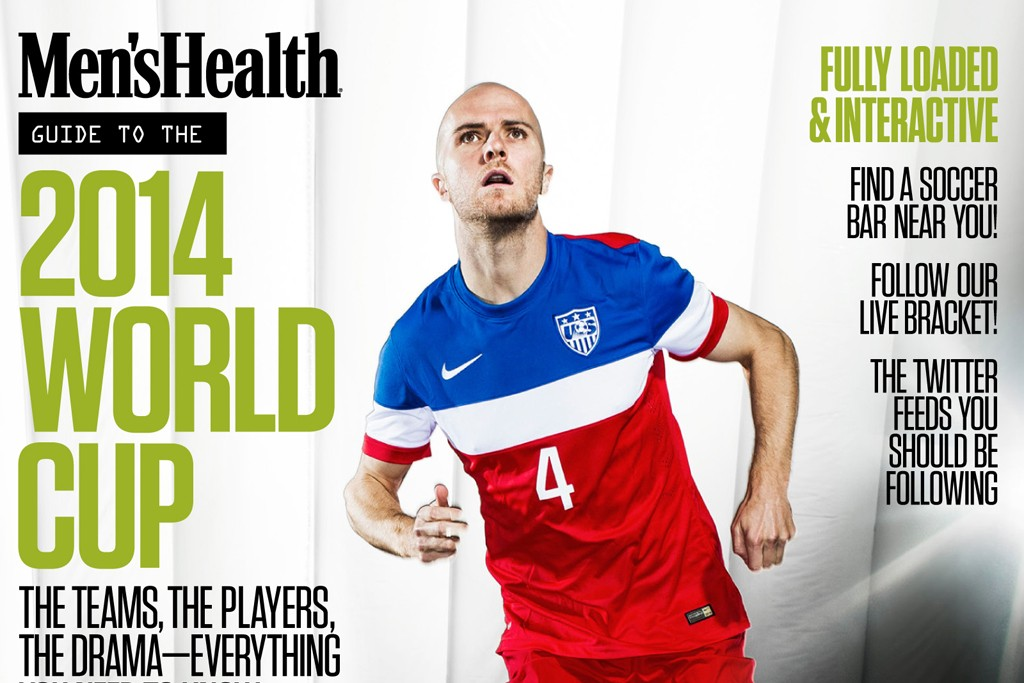 Cover from Men's Health's World Cup edition.
