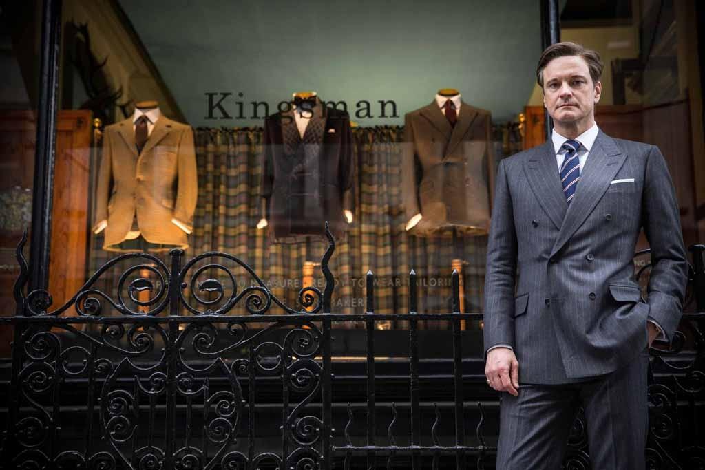 "A film still of Colin Firth in ""Kingsman: The Secret Service."""