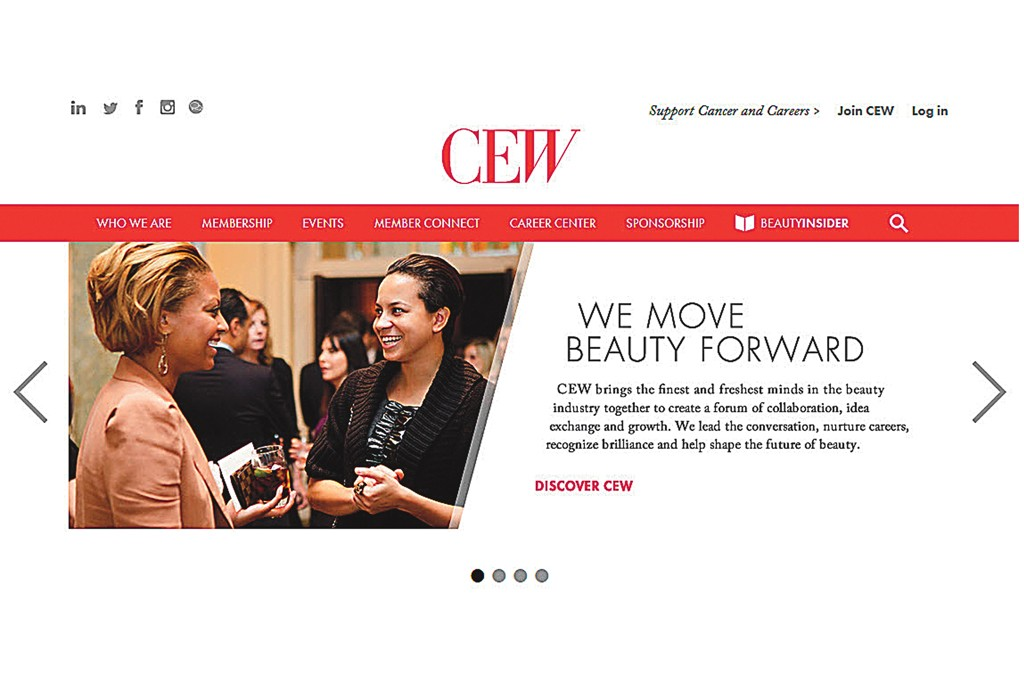 The new face of CEW's recently redesigned Web site.