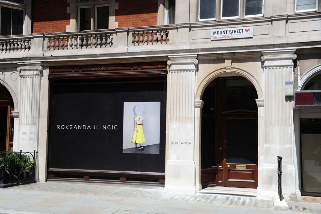 Outside the Roksanda Ilincic store in London.
