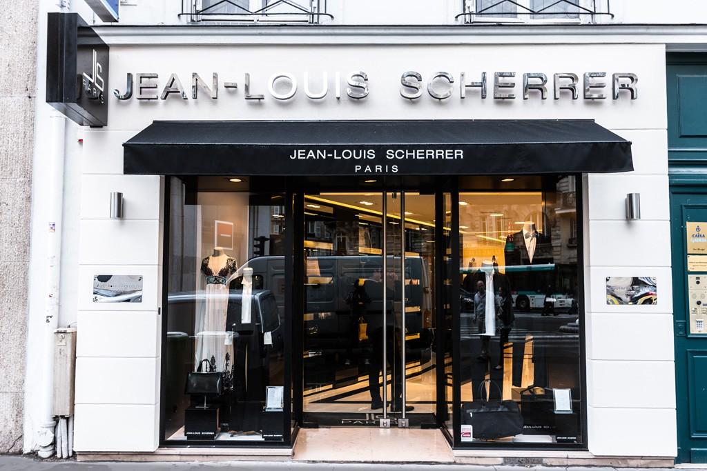 A view of the Jean-Louis Scherrer store on rue du Faubourg Saint Honoré.