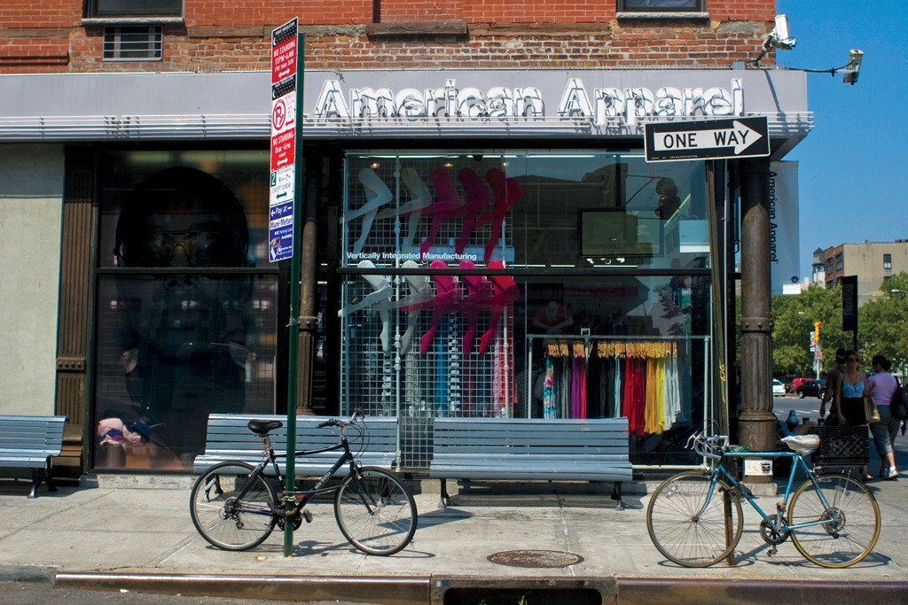 American Apparel store in New York.