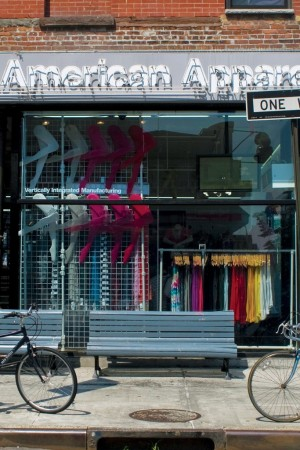American Apparel store in New York.