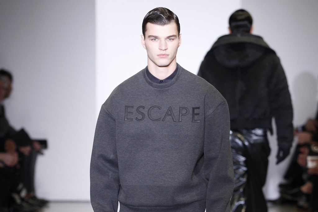 A look from the Calvin Klein capsule collection at Dover Street Market.