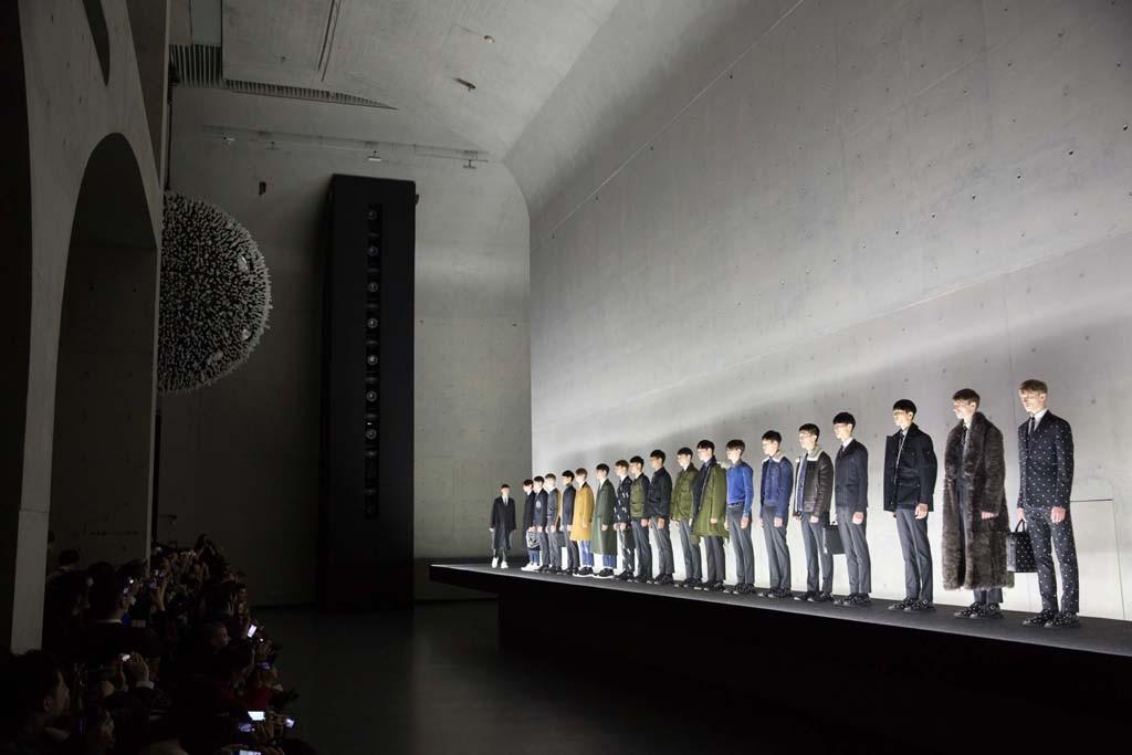 The Dior Homme Fashion show in Shanghai.