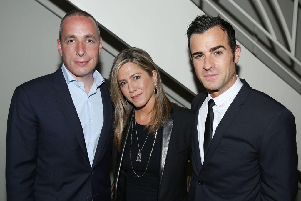Dan Peres, Jennifer Aniston, and Justin Theroux.