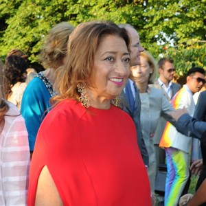 Zaha Hadid in Valentino at the annual Serpentine Gallery summer party in 2014