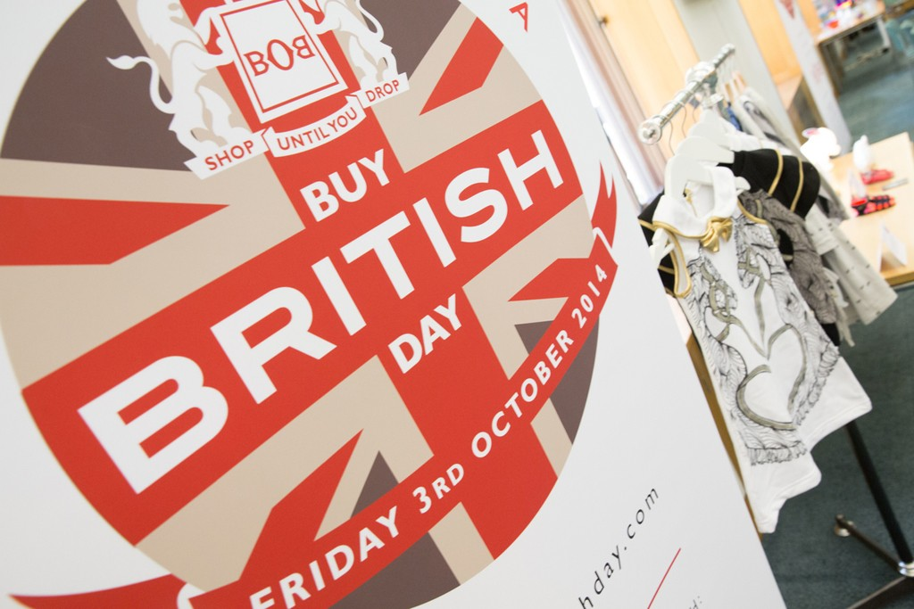 Best of Britannia's visual for Buy British Day in London.