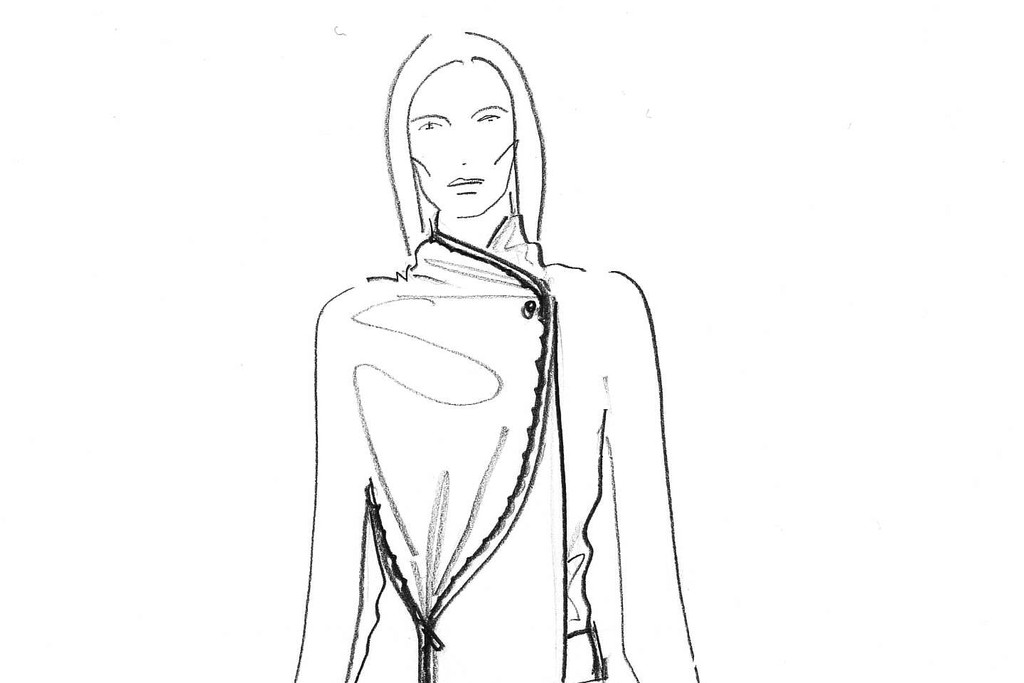 A sketch from the VSP Chalayan capsule collection.