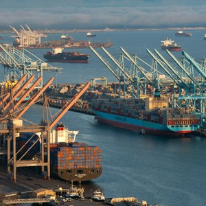 A view of the Ports of Los Angeles.