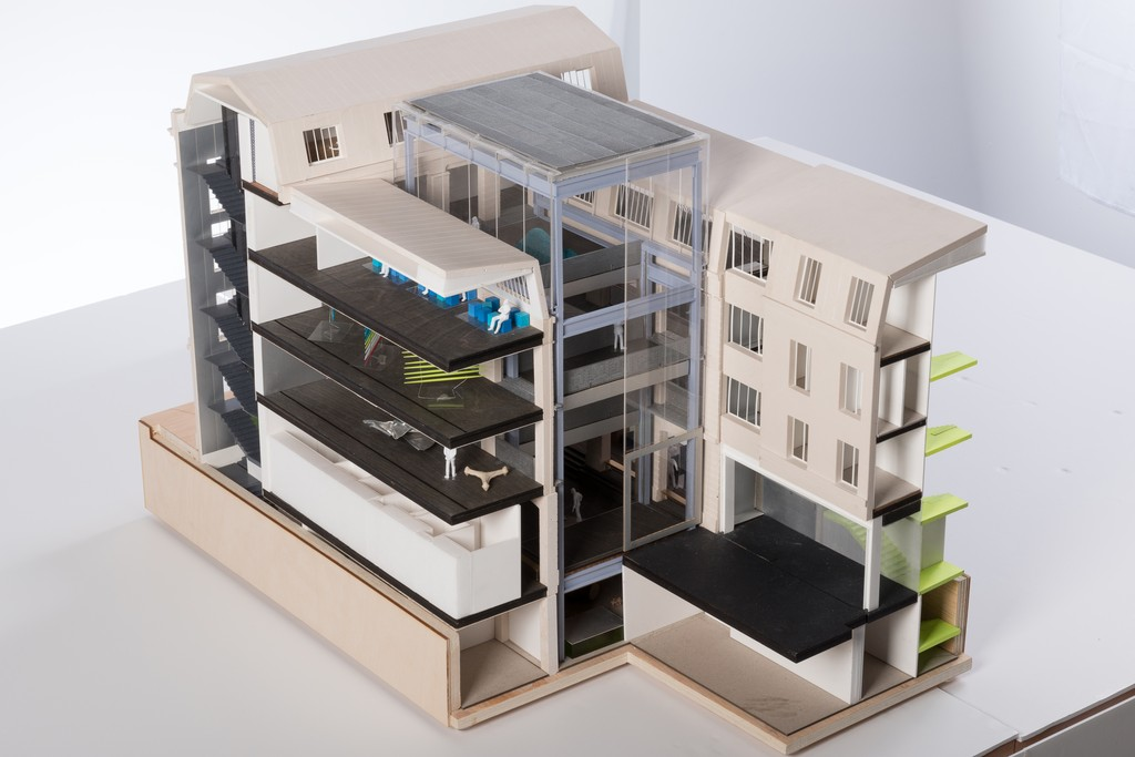 A scale model of the Galeries Lafayette Foundation