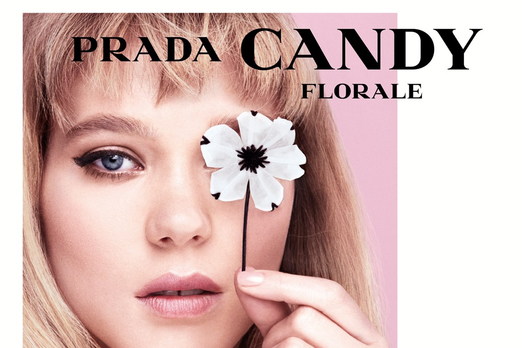 A Prada Candy ad featuring Léa Seydoux.