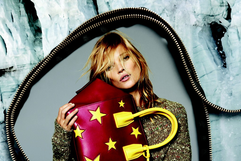 Kate Moss for the seventh time in Stella McCartney's fall 2014 campaign.
