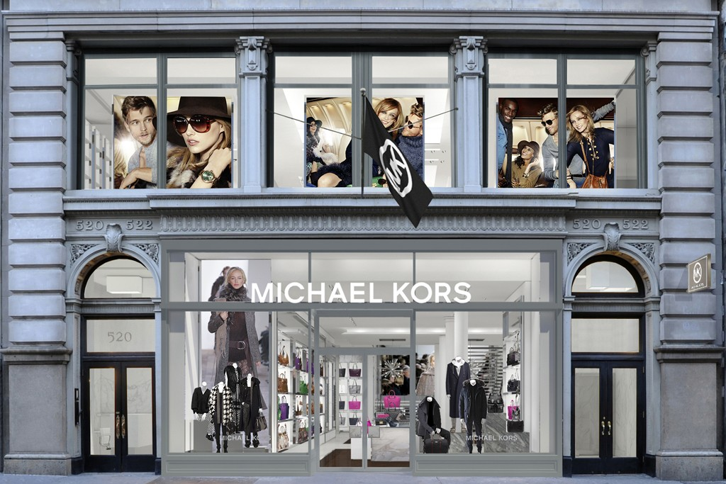 A rendering of the Michael Kors store in SoHo.