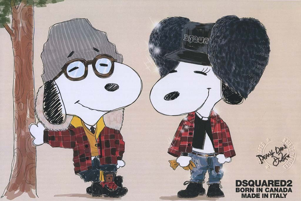 Snoopy and Belle by Dsquared2.