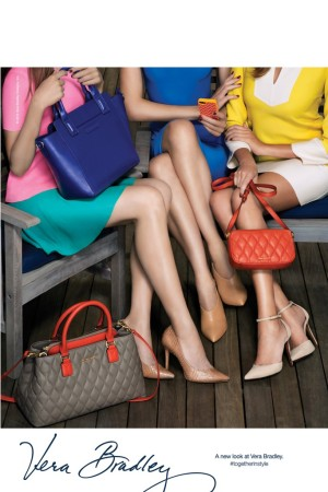 A visual from Vera Bradley's leather goods campaign.