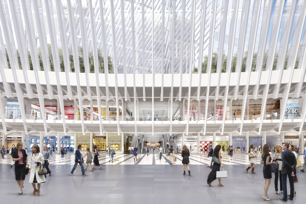 A rendering of Westfield World Trade Center.