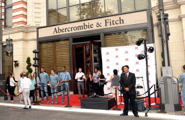 The scene at the party for Abercrombie & Fitch's Stars On the Rise campaign.