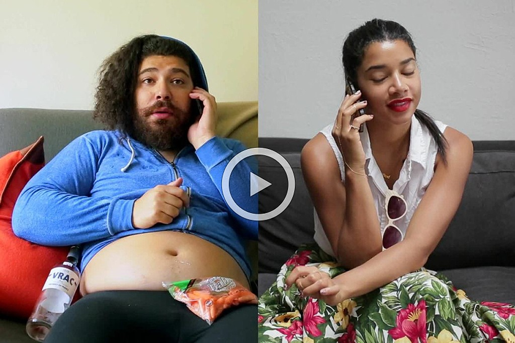 The Fat Jew's Josh Ostrovsky and Hannah Bronfman