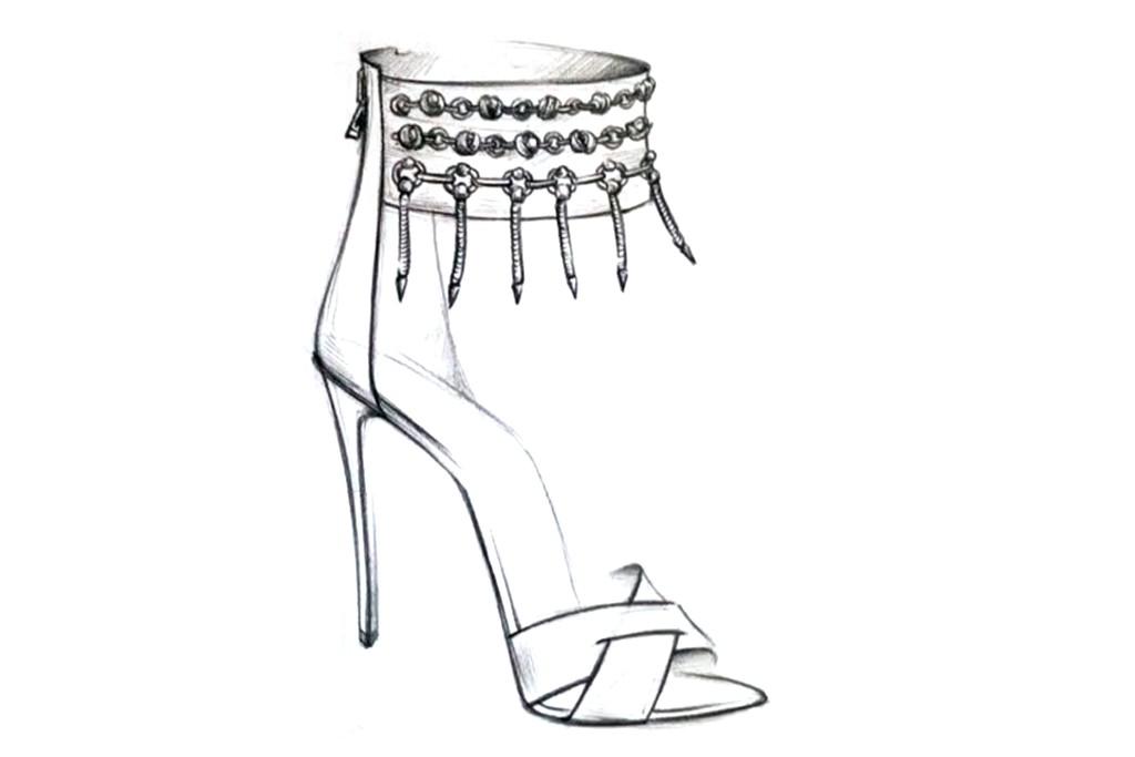 A sketch of a Dannijo shoe.