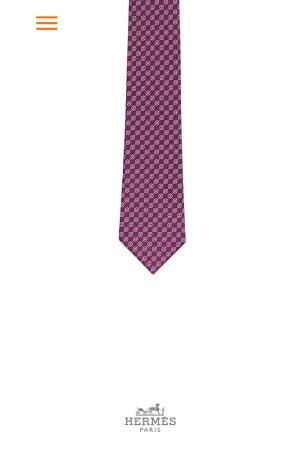 Hermès' Tie Break mobile app.