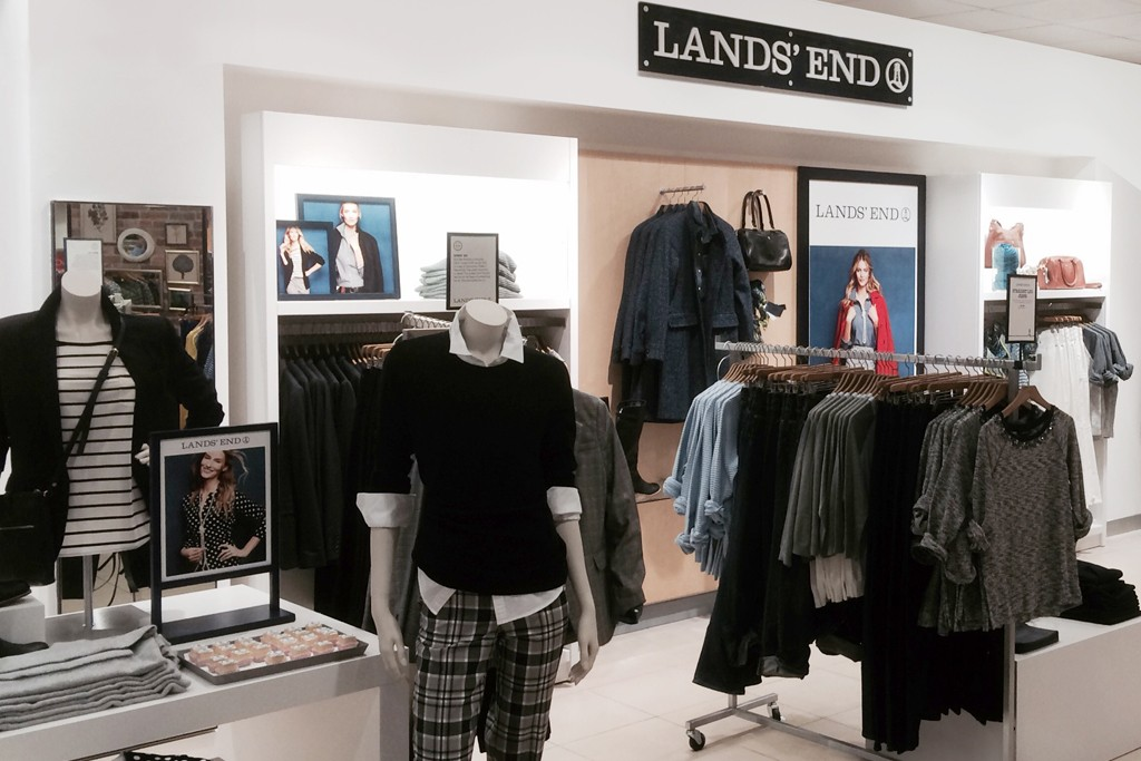 The Lands' End shop inside House of Fraser.