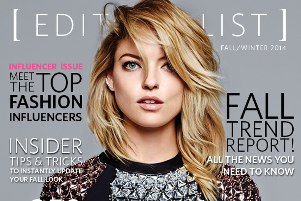 The cover of the second print issue of accessory e-commerce site The Editorialist.