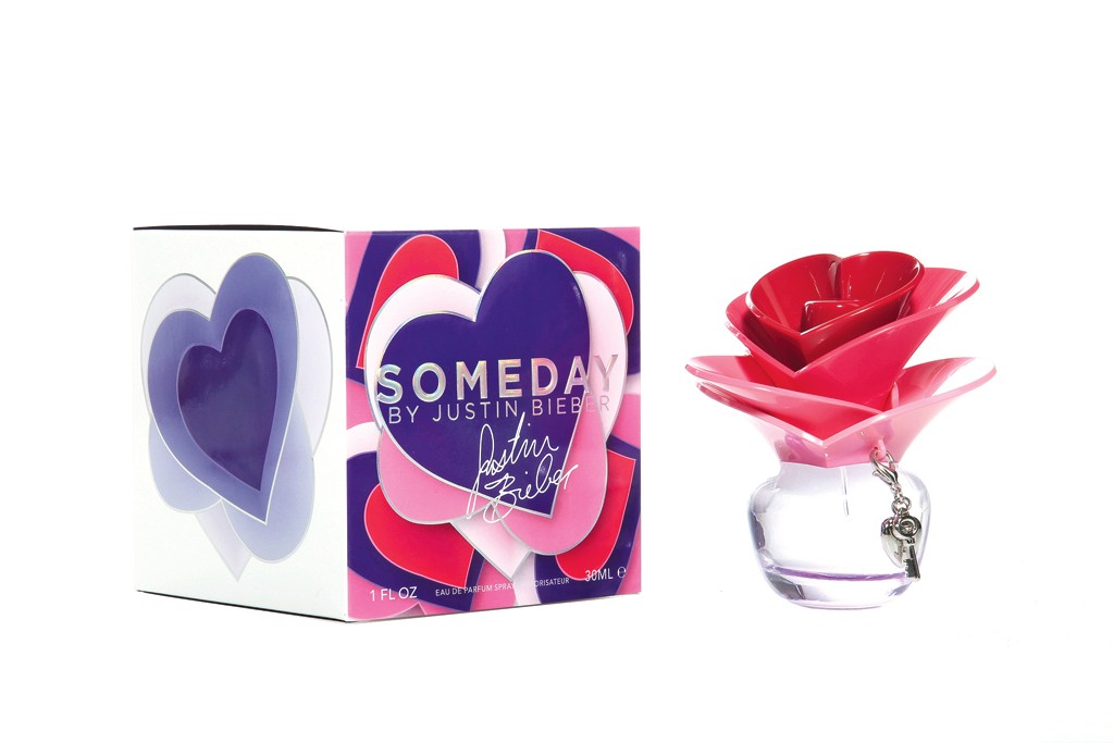 Sales of celebrity fragrances have fizzled. Here, Someday by Justin Bieber.