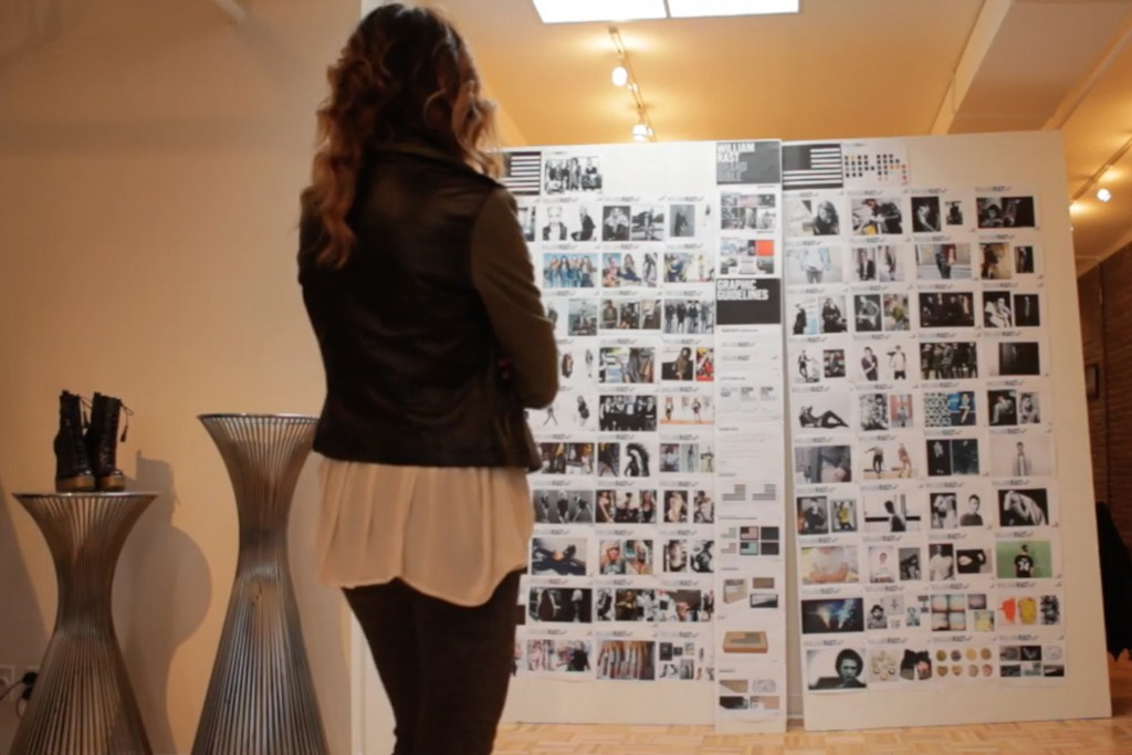 Marcella Lindeberg and the concept board for the line.