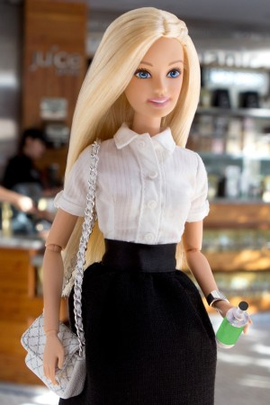 Barbie and her favorite green juice from Juice Press.