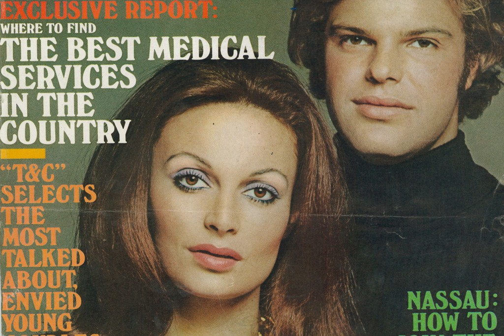 The von Furstenbergs featured on the cover of Town + Country, 1972.